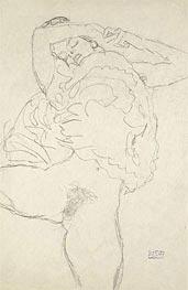 Reclining Semi-Nude with Spread Legs, c.1917/18 von Klimt | Gemälde-Reproduktion