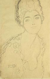 Bust of a Lady, c.1917 by Klimt | Painting Reproduction