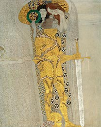 The Knight in Shining Armor (The Beethoven Frieze), 1902 von Klimt | Gemälde-Reproduktion