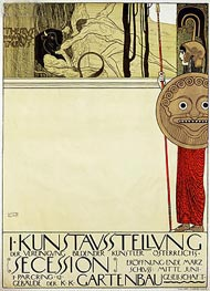 Poster for the first art exhibition of the Secession Art Movement | Klimt | Gemälde Reproduktion