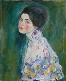 Portrait of a Young Woman, c.1916/17 by Klimt | Painting Reproduction