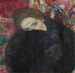 Lady with a Muff, c.1916/17 by Klimt | Painting Reproduction