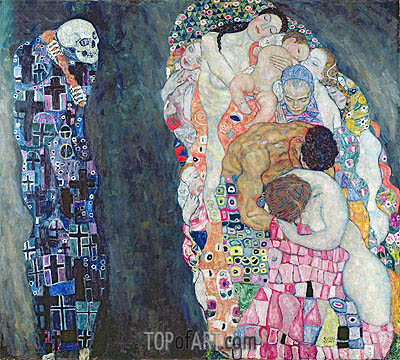 Fine Art Oil Painting Reproduction - Gustav Klimt - Death and Life