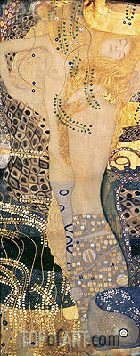 Water Serpents I, c.1904/07 | Klimt | Painting Reproduction