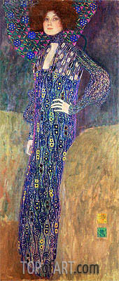Portrait of Emilie Floge, 1902 | Klimt| Painting Reproduction