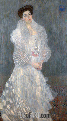Portrait of Hermine Gallia, 1904 | Klimt | Painting Reproduction