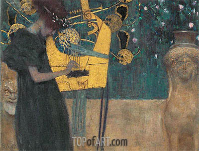 Music I, 1895 | Klimt| Painting Reproduction