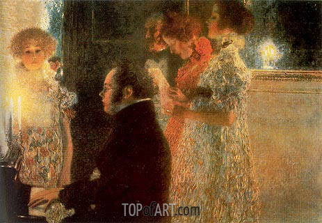 Schubert at the Piano, 1899 | Klimt| Painting Reproduction
