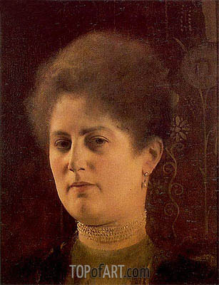 Portrait of a Lady (Frau Haymann), c.1894 | Klimt | Painting Reproduction