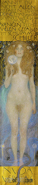 Nude Veritas, 1899 | Klimt | Gemälde Reproduktion