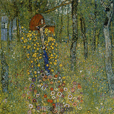 Farm Garden with Crucifix, c.1911/12 | Klimt| Painting Reproduction