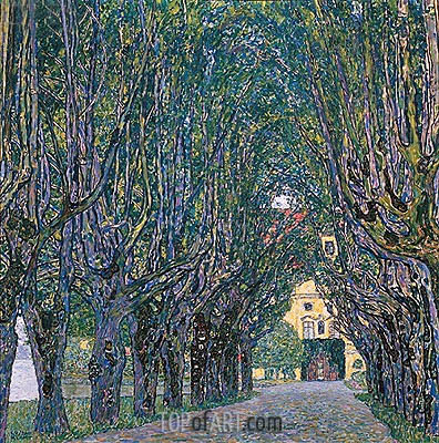 Avenue in Schloss Kammer Park, 1912 | Klimt| Painting Reproduction