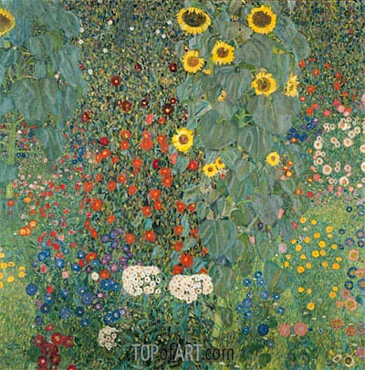 Farm Garden with Sunflowers, c.1905/06 | Klimt | Gemälde Reproduktion