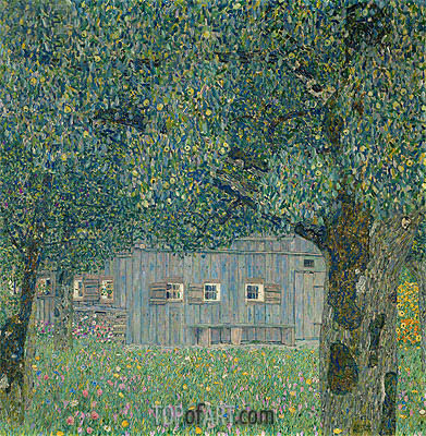 Farmhouse in Upper Austria, 1911 | Klimt | Painting Reproduction