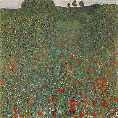 Poppy Field, 1907 | Klimt | Gemälde Reproduktion