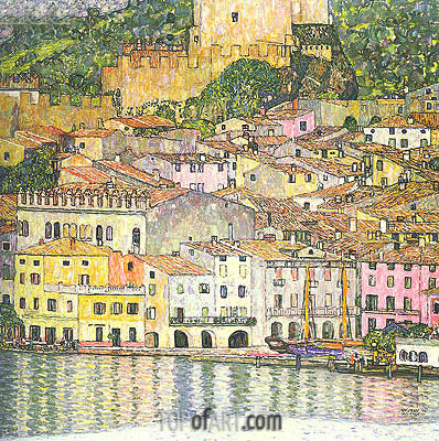 Malcesine on Lake Garda, 1913 | Klimt | Painting Reproduction