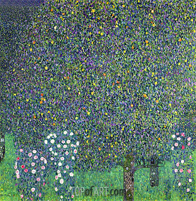 Roses Under the Trees, 1905 | Klimt| Gemälde Reproduktion