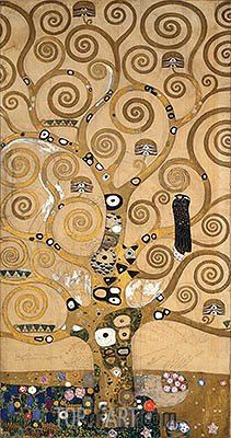 Tree of Life - Centre Portion (Stoclet Frieze), c.1905/06 | Klimt| Painting Reproduction