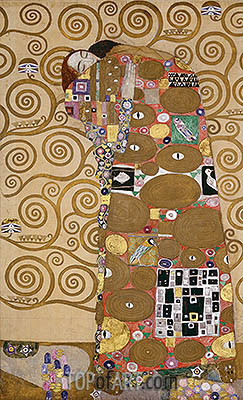 Fulfilment (Stoclet Frieze), c.1905/06 | Klimt | Painting Reproduction