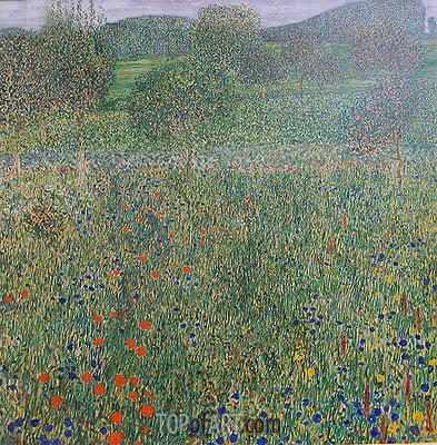 Klimt | Field of Flowers (Orchard), c.1905
