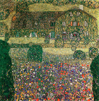 Country House by the Attersee, c.1914 | Klimt| Painting Reproduction