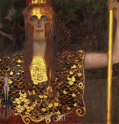 Pallas Athena, 1898 | Klimt | Painting Reproduction