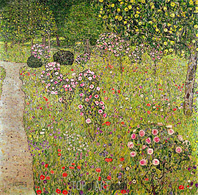 Orchard with Roses, c.1911/12 | Klimt| Painting Reproduction