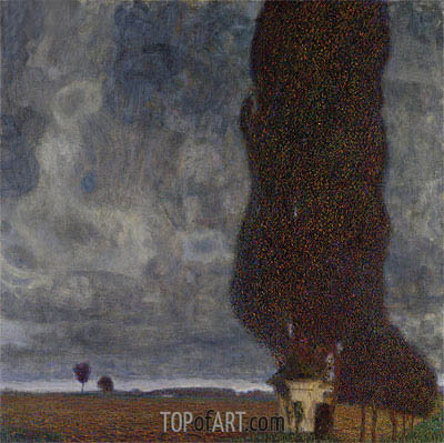 Tall Poplars II (Approaching Thunderstorm), 1903 | Klimt| Painting Reproduction