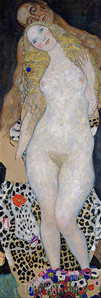Adam and Eve, c.1917/18 | Klimt | Gemälde Reproduktion