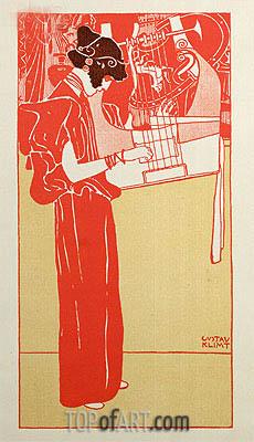 Musik, Undated | Klimt | Gemälde Reproduktion