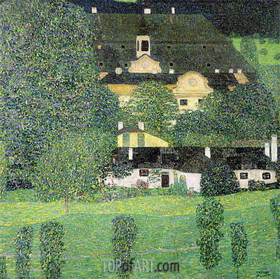 Klimt | Kammer Castle at Attersee II, c.1909