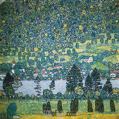Forest Slope in Unterach on the Attersee, 1917 | Klimt| Gemälde Reproduktion