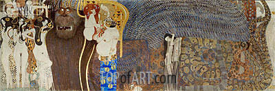 The Hostile Powers (The Beethoven Frieze), 1902 | Klimt | Gemälde Reproduktion
