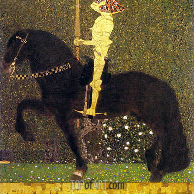 The Golden Knight (Life is a Struggle), 1903 | Klimt | Painting Reproduction