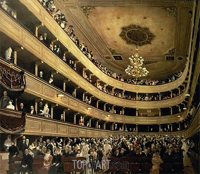 The Auditorium of the Old Castle Theatre, 1888 | Klimt| Painting Reproduction