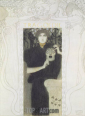 Tragedy, 1897 | Klimt | Painting Reproduction