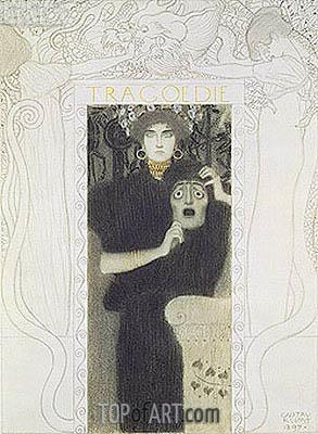 Tragedy, 1897 | Klimt | Gemälde Reproduktion