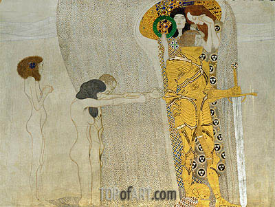 Desire of Happiness (The Beethoven Frieze), 1902 | Klimt | Painting Reproduction