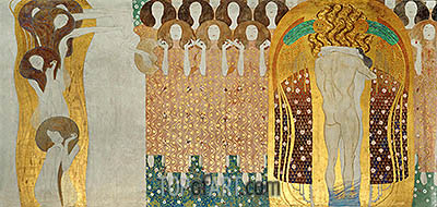 Choir of Angels (The Beethoven Frieze), 1902 | Klimt| Painting Reproduction
