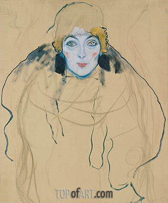 Head of a Woman, 1917 | Klimt| Painting Reproduction
