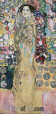 Portrait of a Woman (Ria Munk), c.1917/18 | Klimt | Painting Reproduction