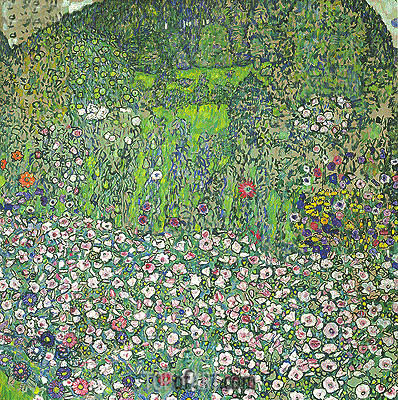 Garden Landscape with Hilltop, 1916 | Klimt | Painting Reproduction