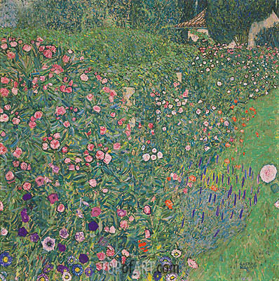 Italian Garden Landscape, 1913 | Klimt| Painting Reproduction