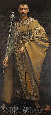 Frederick I von Zollern, 1885 | Klimt | Gemälde Reproduktion