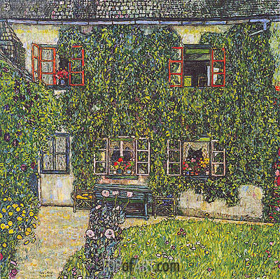 Forester's House in Weissenbach on the Attersee, 1914 | Klimt| Painting Reproduction