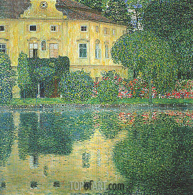 Kammer Castle on the Attersee IV, c.1910 | Klimt | Gemälde Reproduktion