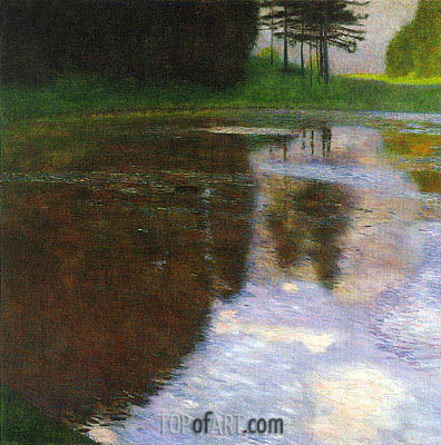 Klimt | A Morning by the Pond, 1899
