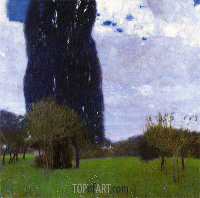 Klimt | The Tall Poplar I, 1900