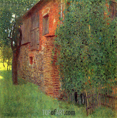 Farmhouse in Kammer am Attersee, 1901 | Klimt | Painting Reproduction