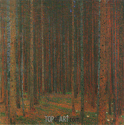 Pine Forest I, 1902 | Klimt | Painting Reproduction